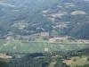 Поглед на део села и злакушко поље из ваздуха
