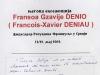 Амбасадор Француске у Србији - Франсоа Гзавије Денио