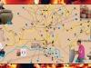 Мапа села са грнчарским домаћинствима