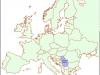 Злакуса на карти Европе