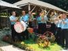 Трубачки оркестар Вељка Остојића са снимања у Терзића авлији